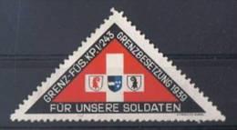 FP 70 - FELDPOST Troupes De Frontières GRENZ-FÜS-KP.I/243 - Labels