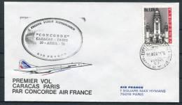 1976 Caracas Venezuela - Paris Air France Concorde First Flight Cover - Concorde