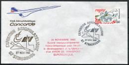 1982 Strasbourg Air France Concorde Flight Cover - Concorde
