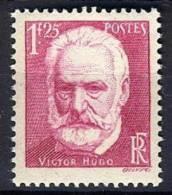 FRANCE   1935 Y&T  304 ** GOMME ABIMEE Victor Hugo - 1fr25 - France