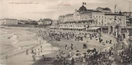 RARE CARTE GEANTE 28 X 14 CM : BIARRITZ LA PLAGE ET LE CASINO 1900 PYRENEES 64 - Biarritz
