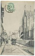 Troyes TRAM Rue De L'Hôtel De Ville 1907 - Troyes
