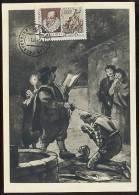 CARTE MAXIMUM CM RARE Card USSR RUSSIA Literature Spain Cervantes Don Quichotte Knight Sword Illustration Kukriniksy - 1923-1991 URSS