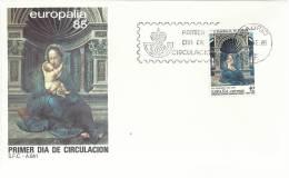 SPD EUROPALIA 85 ARTE PINTURA VIRGEN DE LOVAINA EMISION CONJUNTA CON BELGICA - Madonnas