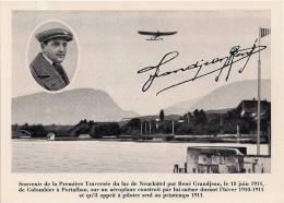 Aviateur René Grandjean - Aviation - Signature De La Veuve De L'aviateur - Aviateurs