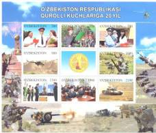 2012.  Uzbekistan, 20y Of National Army, Sheetlet, Min/t** - Usbekistan