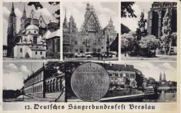 Ak Breslau, Mehrbildkarte, 1937, 12. Deutsches Sängerbundesfest, Selten - Polonia