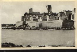 France-Carte Postale-Antibes- Vieux Chateau Et Chaine Des Alpes-nouveau,2/ Scans - Antibes