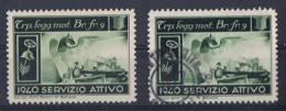 FP 94 - FELDPOST Troupe Des Frontières T^p.logg.mot.Br.fr.9 - 1940 SERVIZIO ATTIVO Neuf Et Obl. - Vignettes