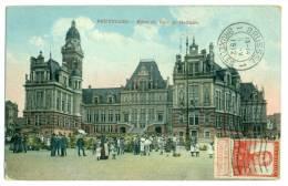 BRUXELLES. SAINT GILLES. Hôtel De Ville. Grande Animation 1912. - St-Gilles - St-Gillis