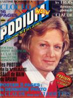 PODIUM N° 74 Avril 1978. CLAUDE FRANÇOIS . Complet Avec Son Poster Format A2. Ultime Hommage à CLOCLO. - People