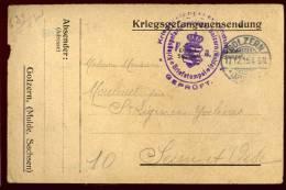 Cpa  Carte D´ Un Prisonnier Kriegsgefangenensendung Golzern  PONT28 - Weltkrieg 1914-18