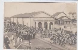 BIZERTE -  Carte Photo De La Gare De Bizerte Près Des Quais D´embarquement (cliché P.Laurent-Papier Brochetto à Lyon - Guerres - Autres