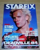 Starfix 18 Septembre 1984 Indiana Jones Sting Spielberg Kaprisky Couverture Sting - Cinéma