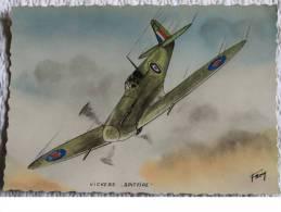 """CPM - AVION - Vickers """" Supermarime """" Spitfire - 1939-1945: 2ème Guerre"""