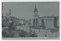 C.P.A. POLOGNE - Plac Zamkowy - Polen