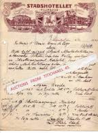 Lettre Illustrée De 1928 - SUEDE - SWEDEN - FILIPSTAD - STADSHOTELLET - Autres
