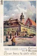 CRACOVIE KRAKOWIE (Pologne) Vieille Ville Carte Illustrée église Du Saint Sacrement - Pologne