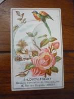 Salomon Egloff Chaussures Amiens Fleur Et Oiseau En Relief - Trade Cards