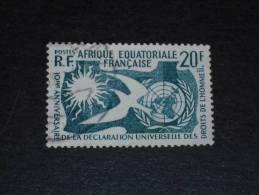 AEF AFRIQUE EQUATORIALE FRANCAISE YT 245 OBLITERE - DECLARATION UNIVERSELLE DROITS HOMME - - A.E.F. (1936-1958)