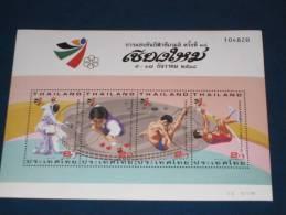 Thailand Block Sheet 70 1995 Gestempelt Used 0 Bangkok Sea Games Chiang Mai Sport Sports Fechten Leichtathletik  Billard - Thaïlande
