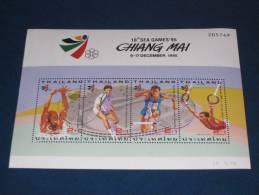 Thailand Block Sheet 62 1994 Gestempelt Used 0 Bangkok Sea Games Chiang Mai Sport Sports Turnen Leichtathletik Tennis - Thaïlande