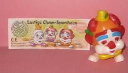 1996 Kinder Allemand Lustige Clown-Spardosen 660744 + BPZ - Inzetting