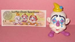 1996 Kinder Allemand Lustige Clown-Spardosen 660779 + BPZ - Inzetting