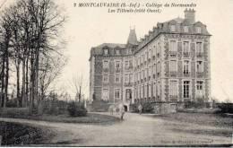 CPA  -   MONTCAUVAIRE   (76)  Collège De Normandie  -  Les Tilleuls  (coté Ouest) - France