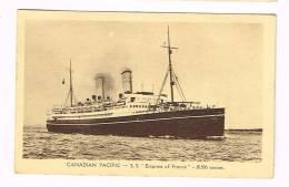 "Bateau... CANADIAN PACIFIC - S.S. "" Empress Of France "" - Cartoline"