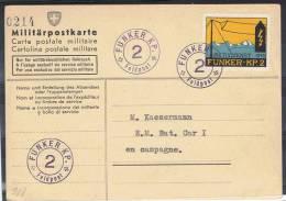FP 123 - FELDPOST Funker/Radiotélégraphiste S - FUNKER-KP 62sur Lettre + Vignette Neuve - Documents