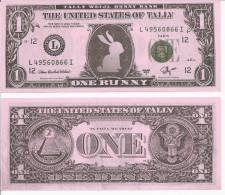 TALLY WEIJL - FANTASY MONEY - United States Of Tally - Tally Weijl Bunny Bank - One Bunny - UNC - Billets