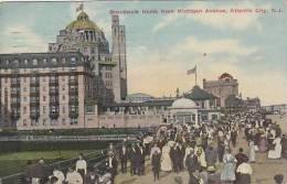 New Jersey Atlantic City Boardwalk North From Michigan Avenue
