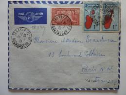 LETTRE DE TANANARIVE MADAGASAR 1939 PAR AVION => FRANCE 39/45 WW2  COVER BRIEFE BELEGE - Briefe U. Dokumente