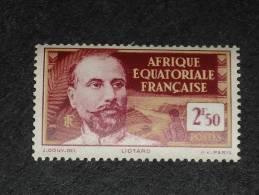 AEF AFRIQUE EQUATORIALE FRANCAISE YT 86 ** - LIOTARD - - A.E.F. (1936-1958)