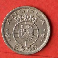 ANGOLA  2,5  ESCUDOS  1967   KM# 77  -    (1454) - Angola