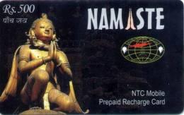 GSM MOBILE PHONE PREPAID USED RECHARGE CARD RS.500 NEPAL TELECOM 2006 NEPAL - Nepal