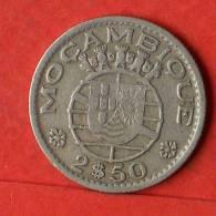MOZAMBIQUE  2,5  ESCUDOS  1953   KM# 78  -    (1474) - Mozambique