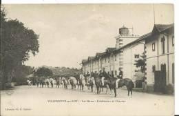 47 - LOT ET GARONNE - VILLENEUVE SUR LOT - Les Haras, Palefreniers Et Chevaux - Villeneuve Sur Lot