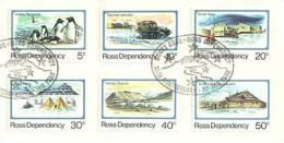 Territoire De Ross . 25 Ans Ouverture Base Scott, Obliteration Volcan Erebus. 6 T-p Oblitérés., Yv. 15/20 - Dépendance De Ross (Nouvelle Zélande)