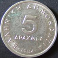 Griechenland - 5 Drachmen 1984 - KM 131 - Vz+ - Griechenland