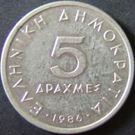 Griechenland - 5 Drachmen 1986 - KM 131 - Vz - Griechenland