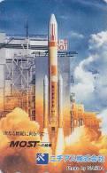 Télécarte Japon - ESPACE - Fusée - SPACE Rocket Japan Phonecard - Rakete Telefonkarte / NASDA - 633 - Espace