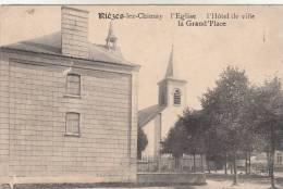 Rièzes Lez Chimay, L'Eglise, L'Hotel De Ville, La Grand'place  (pk9449) - Chimay