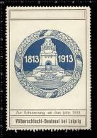 Old German Poster Stamp Cinderella Vignette Reklamemarke Monument In Leipzig - Cinderellas
