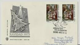 ==Argentina FDC Cv.  Naivdad 1975 SST  Back Side - FDC