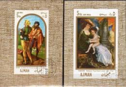 Dürer Rubens Gemälde 1969 VAE Arabien Ajman Block 24 Plus 26 O 4€ Pfeifer Trommler Helene Bf Painting Sheet Of Arabia - Ajman