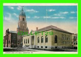 LEWISTON, ME - LIBRARY & CITY HALL - - Lewiston