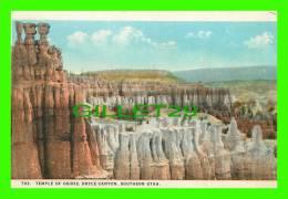 BRYCE CANYON, UTAH - TEMPLE OF OSIRIS, SOUTHERN UTAH - PUB. BY SOUVENIR NOVELTY CO -
