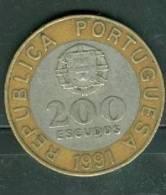 Portugal - 200 Escudos 1991 - Pieb 5108 - Portugal
